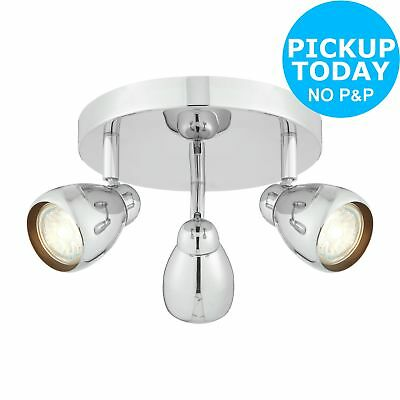 Argos Home Optimus 3 Light Spotlight Ceiling Plate - Chrome