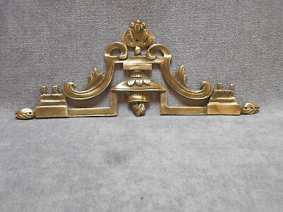 Antique French Bronze CLASSIC PLAQUE PEDIMENT