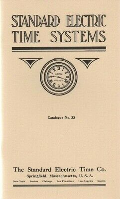 Standard Electric Time Systems 1914 Catalog Reprint, Springfield, MA