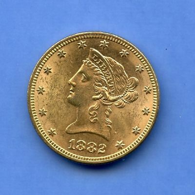 USA 10 Dollars 1882 Top Stgl Liberty Gold