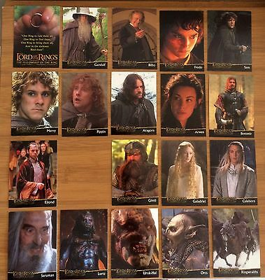 LORD of the RINGS ... CADBURY CARDS