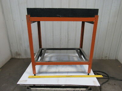 "36"" x 24"" x 4-1/4"" x 41"" Black Granite Surface Inspection Plate W/Stand"