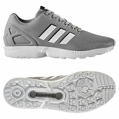 brand new f9b08 88d5d ADIDAS ORIGINALS MEN'S ZX FLUX TRAINERS GREY SNEAKERS SHOES RETRO RUNNING