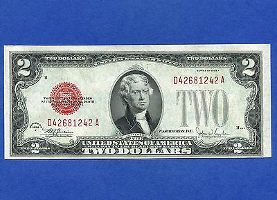 1928 United States 2 Dollar Uncirculated Bank Note S/N D42681242A