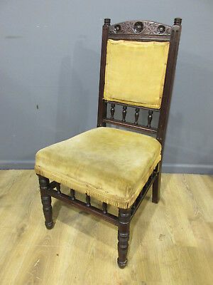 Stunning Quality Antique Late Victorian Carved Mahogany Chair