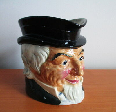 Marutomoware Toby Face Jug Uncle Sam Handled Signed Handpainted Vintage Japan