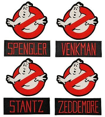 Ghostbusters Name Tags & No Ghost Logo Badge Applique Patches Lot of 8