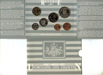 Australia ~ 1987 ~ Mint Set ~ 7 Coin ~ Package Of Issue