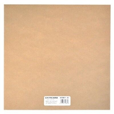 Grafix Medium Weight Chipboard Sheets, 12-inch By 12-inch, Natural, 25-pack -