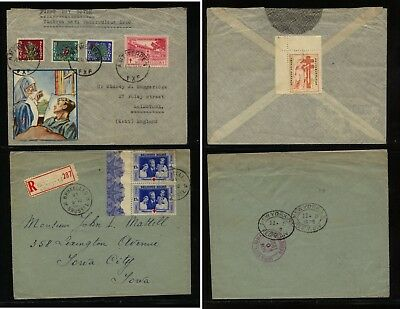 Belgium  2  covers  semi postal  stamps          MS0517