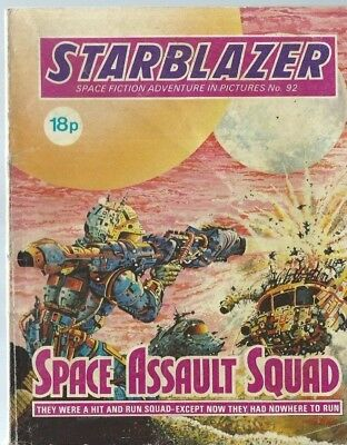 Space Assault Squad,starblazer Space Fiction Adventure In Pictures,comic,no.92