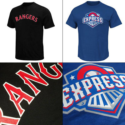 Texas Rangers Adult MLB 2 Button and Affiliate Round Rock Express MiLB T Shirts