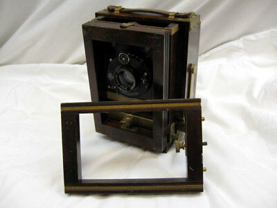 4x5 WOODEN CROWN RED BELLOWS VIEW CAMERA WITH DAGOR LENS
