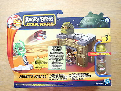 """Star Wars Angry Birds """"Jabba´s Palace Palast"""" Spielset Game set, Hasbro boxed"""