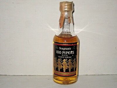 miniature mignon whisky SEAGRAM'S 100 PIPERS