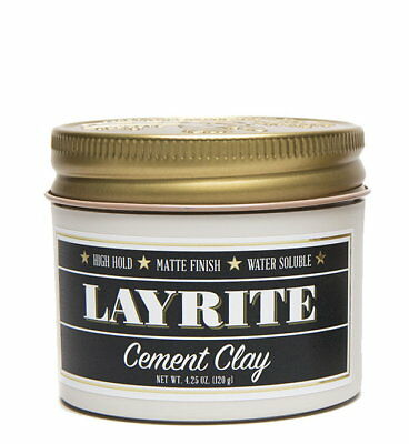 Layrite Cement Deluxe Pomade Hair Styling Matte Clay Gel 4 oz (113g) *BNWT*
