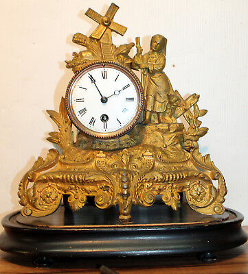 Antique French Mantel clock, about 1880 th table clock -Baroque Rococo