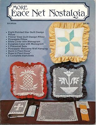 More Lace Net Nostalgia Darning Charts Patterns Book Cover Alphabet 1984 NEW