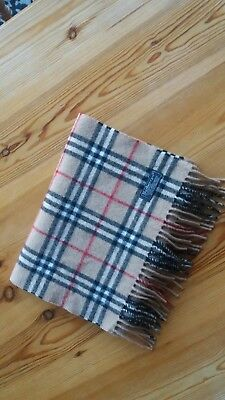 "VINTAGE BURBERRYS of LONDON NOVA CHECK 100% LAMBSWOOL SCARF 1"" x 5""8' Burberry"