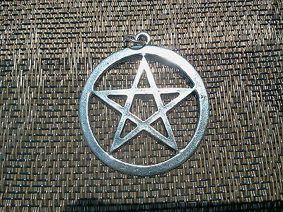 Bikers GOTHIC 1 Pentagram WICCA Medallion Pendant Pewter All New.