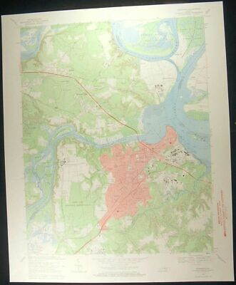 Hopewell Virginia Screamersville 1971 vintage USGS original Topo chart map