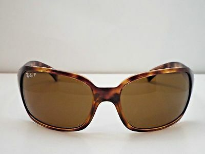 6f75ae2867 Ray Ban Rb4068 642 57 3P Brown Crystal Polarized Lens Sport Wrap Sunglasses  Mint