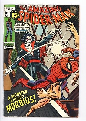 Amazing Spider-Man #101 Vol 1 Very Nice High Grade 1st Appearance of Morbius