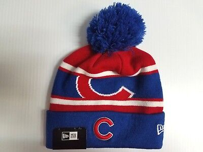 CHICAGO CUBS NEW Era Knit Hat Callout Pom Beanie Stocking Cap MLB ... 6e6db8611b6