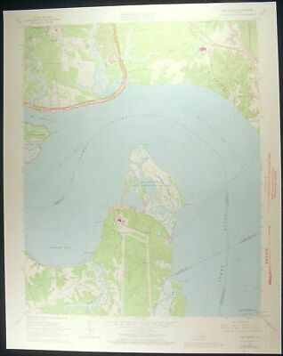Hog Island Virginia James City County 1973 vintage USGS original Topo chart map