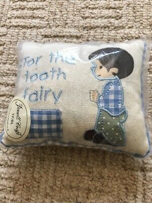 NEW Tooth Fairy Pillow Cushion Milk Teeth Pocket Little Boy Gift Powell Craft