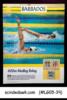 Barbados - 1988 Olympic Games 400M Medley Relay Panel Mnh