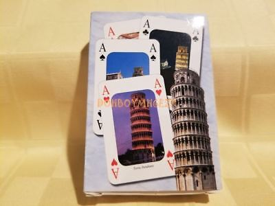 Vintage Standard Deck Playing Cards Leaning Tower of PISA Italy