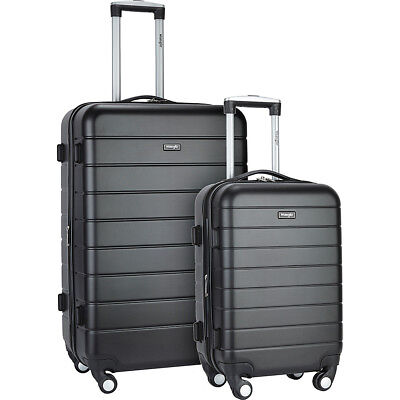Wrangler 3-N-1 2 Piece Hardside Spinner Luggage Set