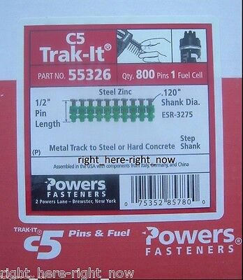 """NEW Powers Trak-It C5 55326 1/2"""" Metal Track to Steel Pins with Fuel Cell"""