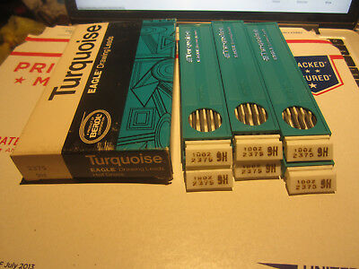 Lot Of Eagle Pencil Company Turquoise Drawing Leads Drafting Leads 2375 9H