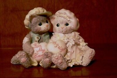 Enesco Calico Kittens - Paws-itively In Love Double Figurine