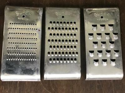 Vintage Set of 3 SUPER Brand Graters