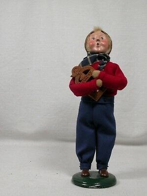 Byers Choice Carolers Boy Holding Nativity Creche Plaque 9 Inch 2004