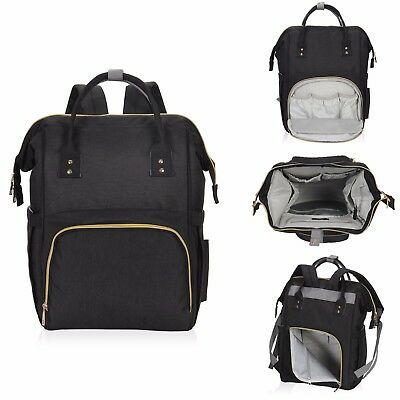 Multifunctional Water Resistant Mommy Diaper Bag Large Capacity Baby Nappy Bag