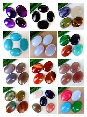 4Pcs/5Pcs Various Natural Stone Mix-and-match Oval Cab Cabochon 25*18*6mm B9630