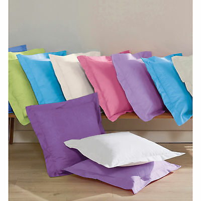 SELENIA plain pillowcase in 100% cotton fabric - 023322