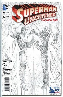 Superman Unchained #5 1:300 Sketch Variant Jim Lee Dc Comics 2015 Nm