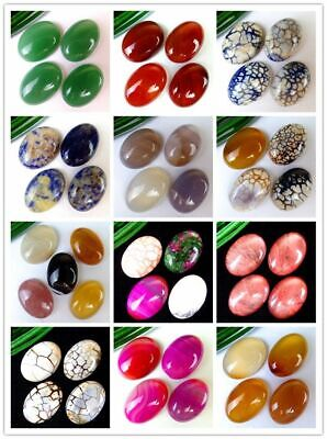 4Pcs/5Pcs Various Natural Stone Mix-and-match Oval Cab Cabochon 25*18*6mm B9633