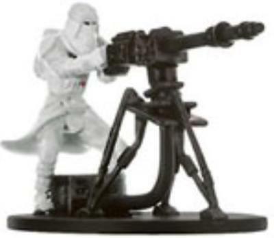 WOTC Star Wars Minis Champions o/t Force Snowtrooper with E-Web Blaster SW