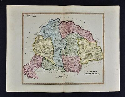 1839 Bell Map - Kingdom of Hungary Budapest Transylvania Croatia Presburg Europe