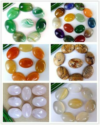 8Pcs/12Pcs Various Natural Stone Mix-and-match Oval Cab Cabochon 18*13*6mm B9640