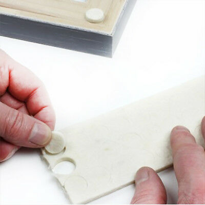 90 PACK OF 3.8mm FELT PICTURE FRAME & FURNITURE ANTI SCUFF WALL PROTECTION PADS