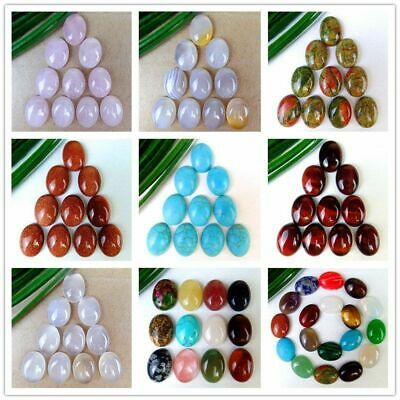 10-18Pcs Various Natural Stone Mix-and-match Oval Cab Cabochon 16*12*5mm B9645