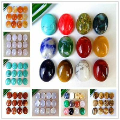 12Pcs Nice Various Natural Stone Mix-and-match Oval Cab Cabochon 14*10*5mm B9646