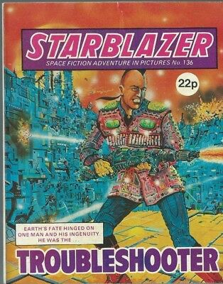 Troubleshooter,starblazer Space Fiction Adventure In Pictures,comic,no.136